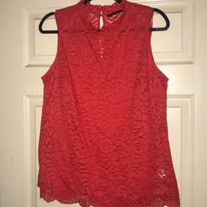 Banana Republic lace Rose Tank Top Sz L in EUC